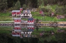 Häuser im Fjord