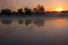 Sonnenaufgang am Okavango