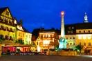 Marktplatz Kulmbach beleuchtet
