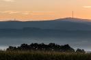 Das Fichtelgebirge beim Sonnenaufgang
